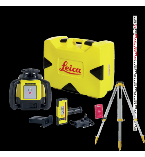 Pack LEICA RUGBY 610 AVEC BATTERIE + CELLULE ROD-EYE 140 + Trépied + Mire