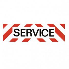 """Bandeau de balisage """"SERVICE"""" 50 x 15 cm"""
