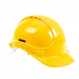 Casque de chantier jaune