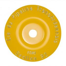 Rondelles galbées à graver jaune