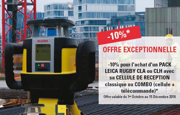 Offre de fin d'année : -10% sur les packs laser Leica Rugby CLA/CLH et Leica Combo !